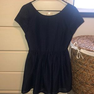 Navy Blue Short Sleeve Dress